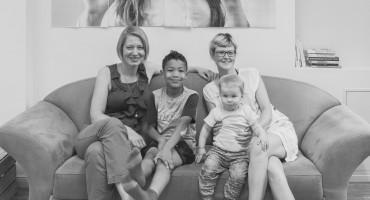 founders of juggleHUB with kids